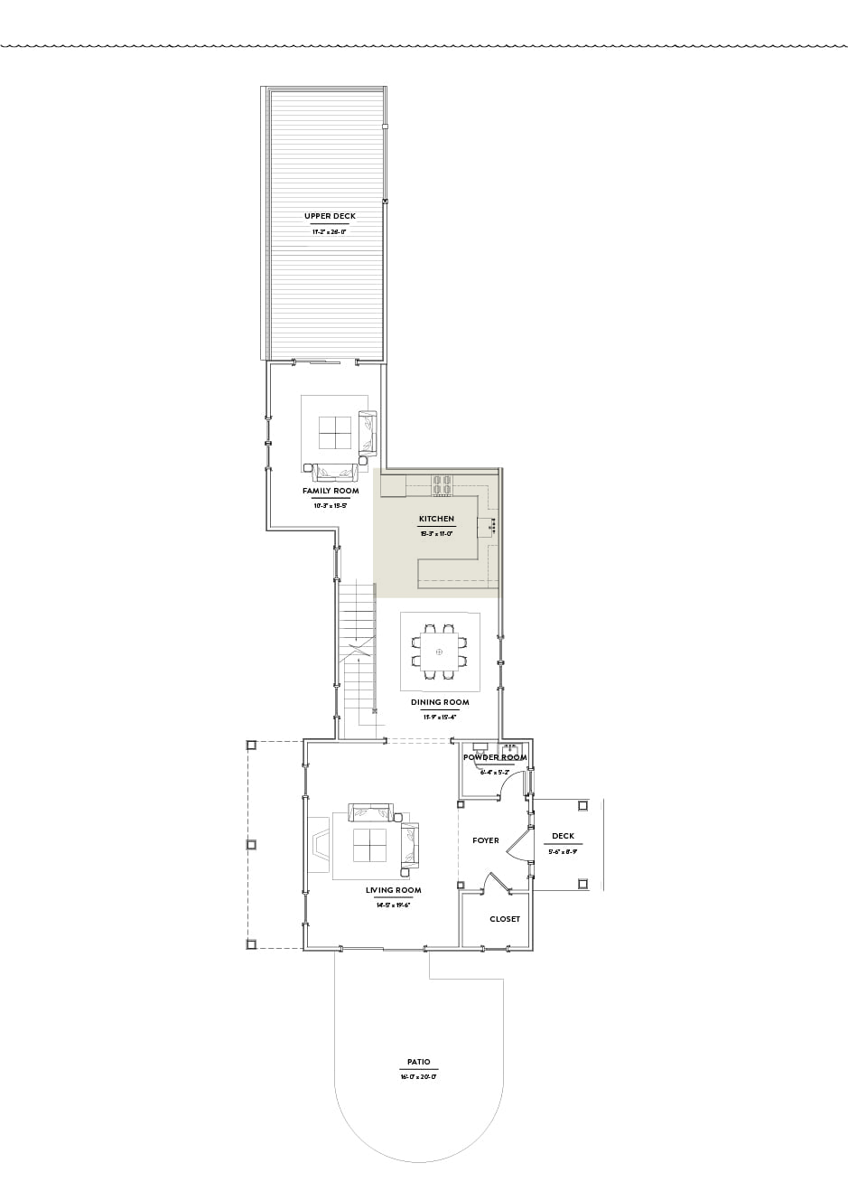 Hilltop 1 Second Floor Kitchen