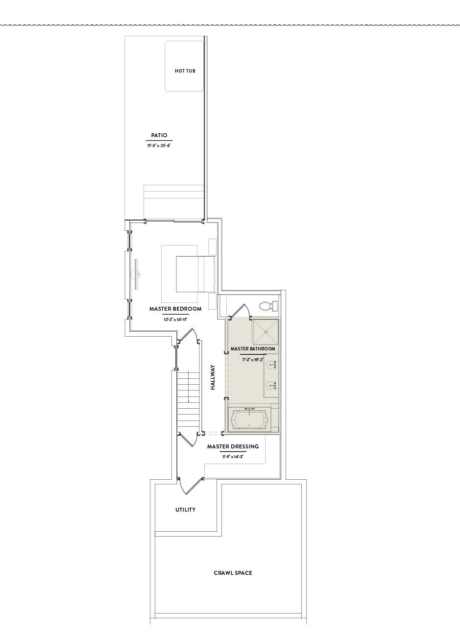 Hilltop 1 First Floor Master Bathroom
