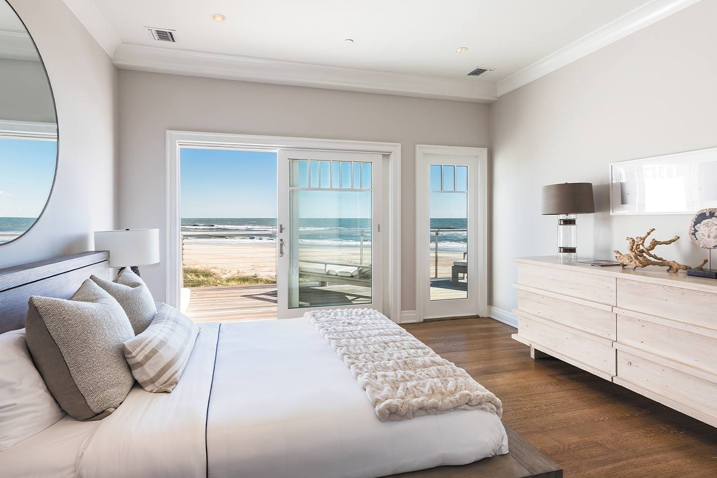 Bedroom with a ocean view