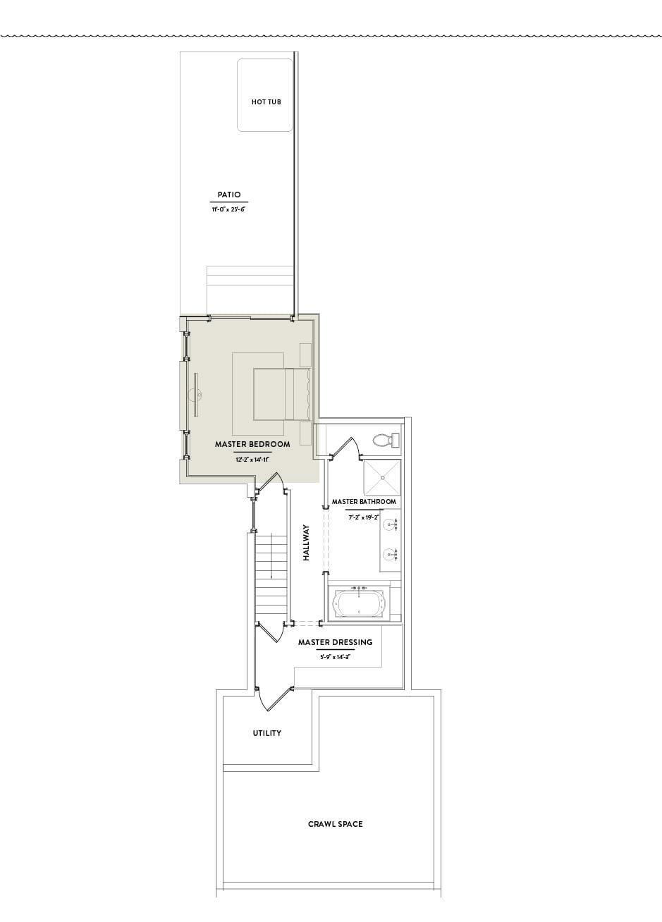 Hilltop 1 First Floor Master Bedroom